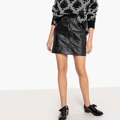 80ba3997e4bcfc Jupe en cuir noir femme | La Redoute