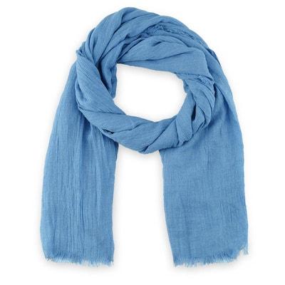 Chèche  Touch  viscose Bleu jean ALLEE DU FOULARD 834314668d5
