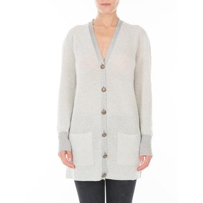 c44e2fd6869 Cardigan en laine Merinos et maille Fil textile® Picadilly Cardigan en  laine Merinos et maille