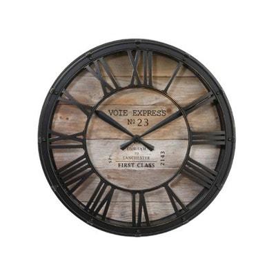 c1b5427177fbb9 39 cm - Plastique Pendule Vintage - Diam. 39 cm