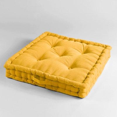 coussin de sol jaune la redoute. Black Bedroom Furniture Sets. Home Design Ideas