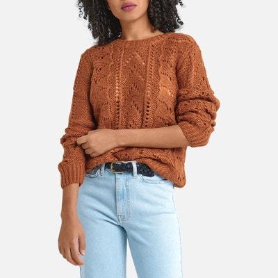 Pull long marron femme | La Redoute
