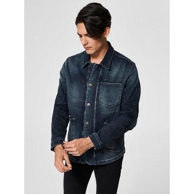 Veste en jean avec manche en coton homme