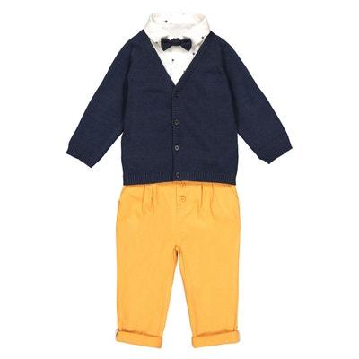6900b6e2113a0 Ensemble pantalon, cardigan, chemise 3 mois-3 ans Ensemble pantalon,  cardigan,