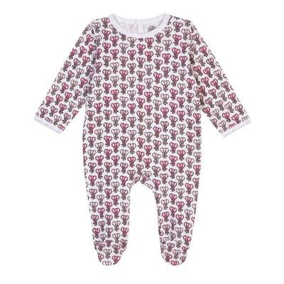 a029b590286e6 Pyjama bébé fille en coton bio - Imprimé Eléphant BRAI
