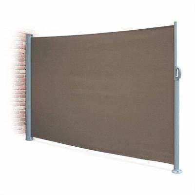 Paravent Rétractable Putti 300x160cm, Brise Vue Enroulable 3m, Mât  Aluminium Et Toile Polyester