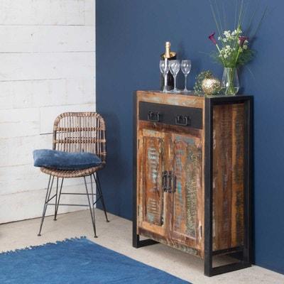 Buffet industriel 2 portes bois coloré, 1 tiroir métal   MOX31 - En Soldes  MADE. MADE IN MEUBLES e80d91997258
