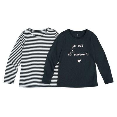 842e05b214 Lot de 2 T-shirts manches longues 3-12 ans LA REDOUTE COLLECTIONS
