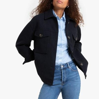 Veste en jean bleu marine femme