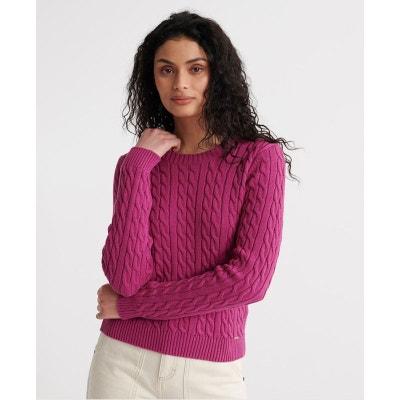 Pull rose laine femme | La Redoute