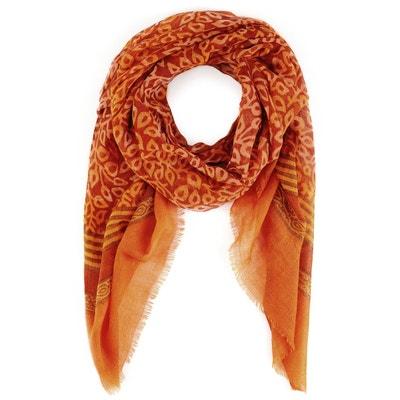 Echarpe étamine de laine Koks Lapu ORANGE ALLEE DU FOULARD 61aac742c40