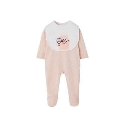 32c4e72bba166 Dors-bien bébé en coton pressionné dos + bavoir Dors-bien bébé en coton