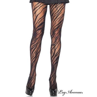 Collant fantaisie zebre noir LEG AVENUE ee570f6c4d0