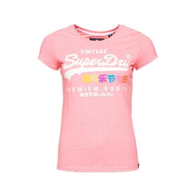 90bd496bd9b Tee shirt col rond manches courtes logo Tee shirt col rond manches courtes  logo SUPERDRY. «