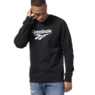 Sweater met ronde hals en groot logo Sweater met ronde hals en groot logo REEBOK
