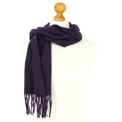 a73b2e0a440 Echarpe violet luxe unie en laine d Australie