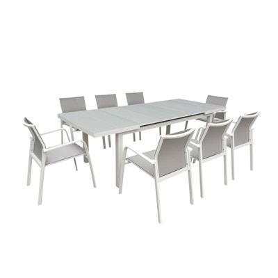 Table de jardin aluminium et verre | La Redoute