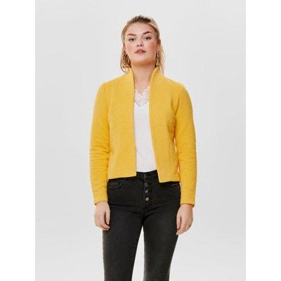 Veste de blazer jaune femme