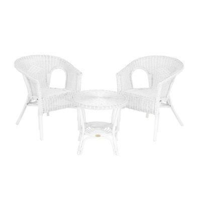 Salon en rotin blanc | La Redoute