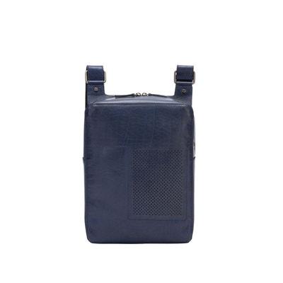 3b3f14b46a Sac homme à bandoulière en cuir sac messenger en buffle pour tablette avec  fermeture zip Sac