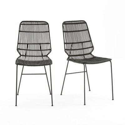 Chaise rotin noir | La Redoute