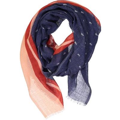 6133d6cecc7a Foulard en étamine de laine et fil Fil textile - ATOBAHN HIVER BLUE SOPHIE  CANO