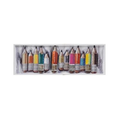 Peinture Murale En Aluminium Crayons 120cm X 40cm Peinture Murale En  Aluminium Crayons 120cm X 40cm