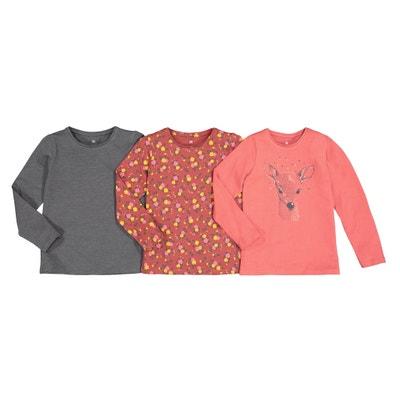 Set van 3 T-shirts met lange mouwen 3-12 jaar Set van 3 T-shirts met lange mouwen 3-12 jaar LA REDOUTE COLLECTIONS