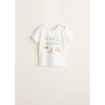 0f48b50e8fd84 T-shirt coton imprimé animaux T-shirt coton imprimé animaux MANGO BABY