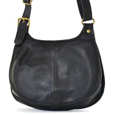 fc123f25d173 Sac à main besace cuir lisse style cartouchière OH MY BAG