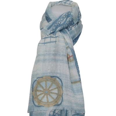 Grand foulard marin Grand foulard marin CHAPEAU-TENDANCE 580f0b31e71
