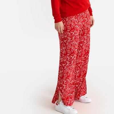 Pantalón ancho con estampado de flores Pantalón ancho con estampado de  flores CASTALUNA 5d233751c1b2