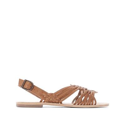 Sandales plates marron | La Redoute