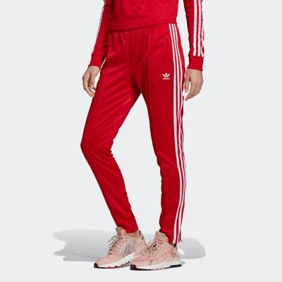 adidas pantalon femme rouge