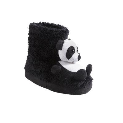 f9f4d687b4f42 Chaussons montants pandas fille en peluche Chaussons montants pandas fille  en peluche VERTBAUDET