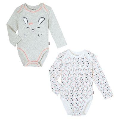 Lot de 2 bodies manches longues bébé fille Pretty Bunny PETIT BEGUIN ce4fede97d3