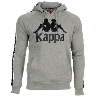 Sweat Capuche Kappa Hurtado Hoody Blanc Rétro