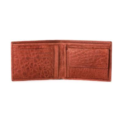 c8c6da97449b Portefeuille pour homme avec Porte-monnaie en Cuir souple Italien Style  classique avec fentes pour