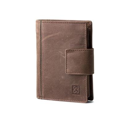 Portefeuille vertical pour homme et pour femme en cuir véritable à l aspect  vintage Portefeuille af3faca30f2