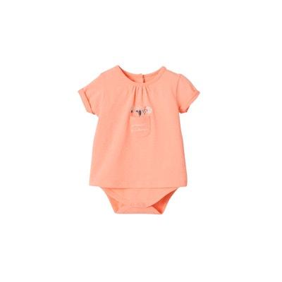 88bd69df567c0 T-shirt body bébé fille avec poche et motifs fleurs VERTBAUDET
