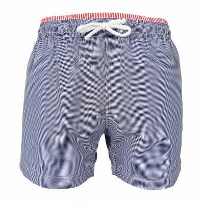 Maillot Short de bain homme New Jim Vichy carreaux bleu marine et blanc LES  LOULOUS DE 3cc8e78ea0d