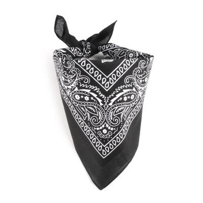 929e7f6d228 Foulard bandana noir ALLEE DU FOULARD
