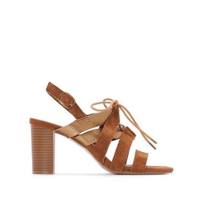 215287eb489a7 Leather Strappy Sandals ANNE WEYBURN