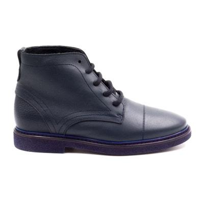8f77c075a3abc Boni Alexandre - boots enfant en cuir bleu BONI CLASSIC SHOES