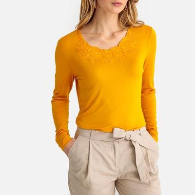Jaune Tee Redoute Tee Shirt Shirt FemmeLa Jaune FemmeLa Tee Redoute OXPZiku