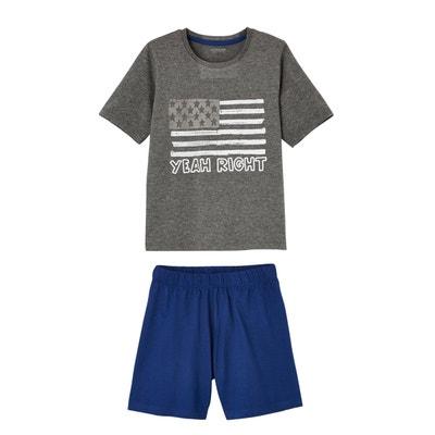 fd81fc221f43b Lot pyjashort + pyjama garçon combinables VERTBAUDET