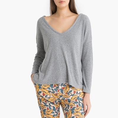 T-shirt met lange mouwen en V-hals VITIBOO T-shirt met lange mouwen en V-hals VITIBOO AMERICAN VINTAGE