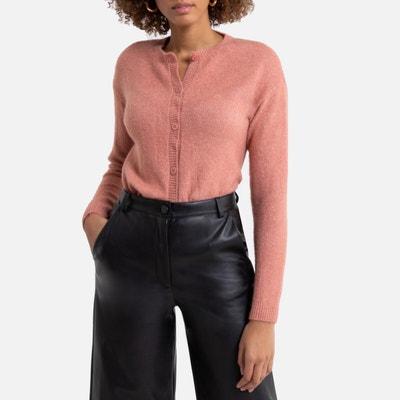 Gebreid vest met ronde hals in zacht tricot Gebreid vest met ronde hals in zacht tricot LA REDOUTE COLLECTIONS