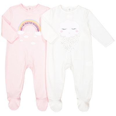 Set van 2 pyjama's in katoen 0 mnd – 3 jaar Set van 2 pyjama's in katoen 0 mnd – 3 jaar LA REDOUTE COLLECTIONS