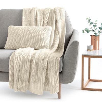 jete de lit beige la redoute. Black Bedroom Furniture Sets. Home Design Ideas